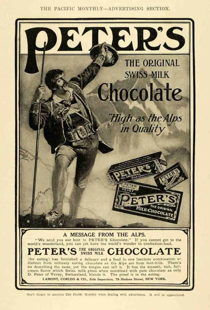 reklama peters chocolate